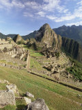 Ruins of Inca City, Machu Picchu, Unesco World Heritage Site, Urubamba Province, Peru