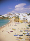 Beach and Town, Albufeira, Algarve, Portugal, Europe