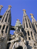 Gaudi Church Architecture, La Sagrada Familia, Barcelona, Catalunya (Catalonia) (Cataluna), Spain