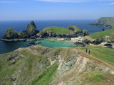 Kynance Cove from the Cliffs, South Cornwall, England, UK