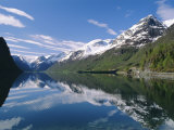 Tranquil Scene Near Olden, Oldevatnet Lake, Western Fjords, Norway, Scandinavia, Europe