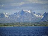 The Lofoten Islands Viewed from the Sea, Nordland, Norway, Scandinavia, Europe
