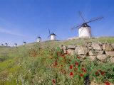Windmills in Consuegra, Castilla La Mancha, Spain