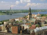 Riga and River Daugava, Latvia