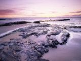 Sunrise Over North Sea from Bamburgh Beach, Bamburgh, Northumberland, England, United Kingdom