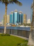 Sharjah Creek Skyline, Sharjah, United Arab Emirates (U.A.E.), Middle East