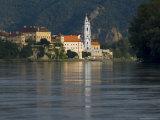 Stiftskirche and River Danube, Durnstein, Wachau, Austria