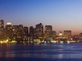City Skyline at Dusk, Boston, Massachusetts, USA