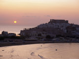 Sunrise Over the Citadel and Castle, Peniscola, Costa Del Alzahar, Valencia, Spain, Mediterranean
