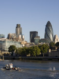 City of London and the River Thames, 30 St. Mary Axe Building on the Right, London, England