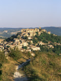 View to Village from Hillside Path, Cordes-Sur-Ciel, Tarn, Midi-Pyrenees, France, Europe