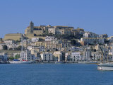 The Harbour and Ibiza Town, Ibiza, Balearic Islands, Spain, Europe