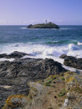 Lighthouse, Godrevy Point, St. Ives Bay, Cornwall, England, UK