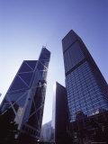 Bank of China and Cheung Kong Center, Central, Hong Kong Island, Hong Kong, China, Asia