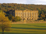 West Elevation, Chatsworth House in Autumn, Derbyshire, England