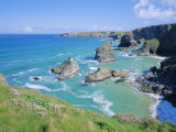 Bedruthan Steps, North Coast, Cornwall, England, UK