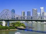The Storey Bridge and City Skyline, Brisbane, Queensland, Australia