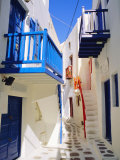 Mykonos, Mykonos Town, a Narrow Street in the Old Town,Cyclades Islands, Greece