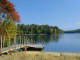 Jetty on Squam Lake, New Hampshire, New England, USA
