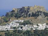 The Acropolis, Lindos, Rhodes, Dodecanese Islands, Greece Europe