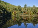 Lake Reflections Near Jackson, New Hampshire, New England, USA