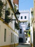 Quiet Street in Seville, Andalucia, Spain