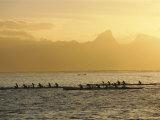 Boats at Sea, French Polynesia