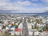 City Centre and Faxafloi Bay from Hallgrimskirkja, Reykjavik, Iceland, Polar Regions