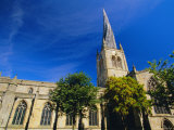 St. Mary and All Saints Church with Its Twisted Spire, Chesterfield, Derbyshire, England, UK