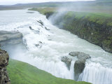 Gullfoss, or Golden Waterfall, Gullfoss, Iceland