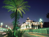 The Promenade Des Anglais and Hotel Negresco at Night, Nice, Alpes Maritimes, Mediterranean, France