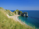 View from Coastal Path of Durdle Door, Dorset, England