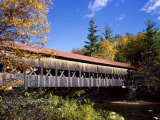 The Albany Covered Bridge Across a River, New England, USA