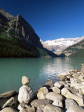 View to Mount Victoria Across the Emerald Waters of Lake Louise, Alberta, Canada