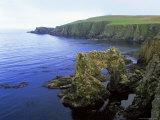 Natural Arch on the East Coast, Fair Isle, Shetland Islands, Scotland, United Kingdom, Europe