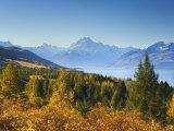 Lake Pukaki and Mount Cook, Canterbury, South Island, New Zealand, Pacific