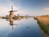 Windmills at Kinderdijk, Near Rotterdam, Holland, the Netherlands