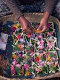Temple Offerings, Mount Batur Area, Bali, Indonesia, Southeast Asia, Asia