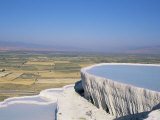 Terraces, Pamukkale, Unesco World Heritage Site, Egee Region, Anatolia, Turkey, Asia Minor, Asia