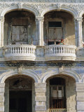 Colonial Facade, El Malecon, Havana, Cuba