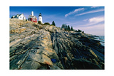 The Pemaquid Point Lighthouse with Rocky Shoreline
