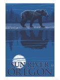 Bear in Moonlight, Sun River, Oregon