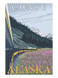 Alaska Railroad Scene, Chase, Alaska
