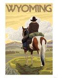 Cowboy & Horse, Wyoming