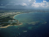 Aerial of the Island of Puerto Rico, West Indies, Central America