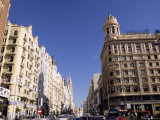 Plaza De Callao (Callao Square), Gran Via Avenue, Madrid, Spain, Europe