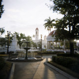 View Across Parc Central, Cienfuegos, Cuba, West Indies, Central America