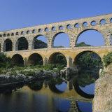 The Pont Du Gard, Roman Aqueduct, Gard Near Nimes, Languedoc, France, Europe