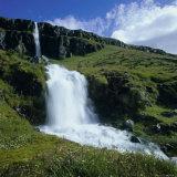 Waterfalls Near Seydisfjordur, East Iceland, Polar Regions