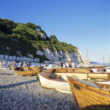 Boats on the Beach, Beer, Devon, England, UK